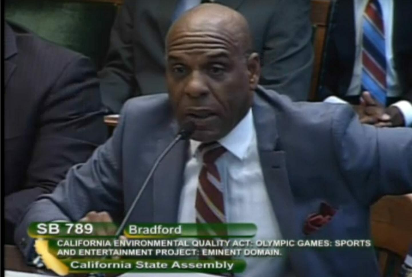 California State Senator Steve Bradford Defends SB 789 in Committee
