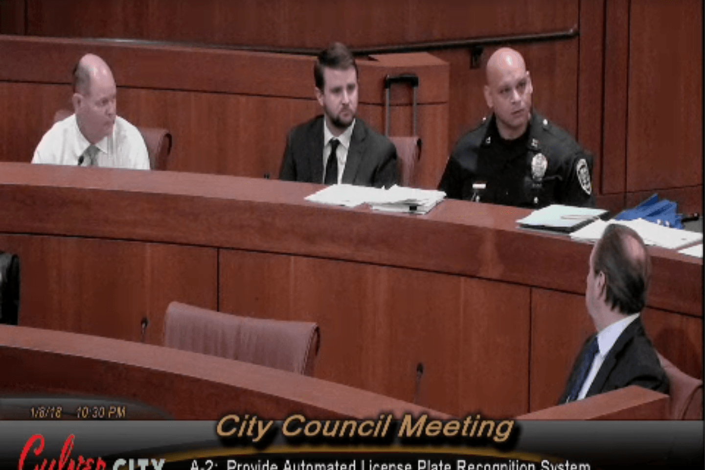 Captain Sam Agaiby Presents Automatic License Plate Reader Program to Culver City Council