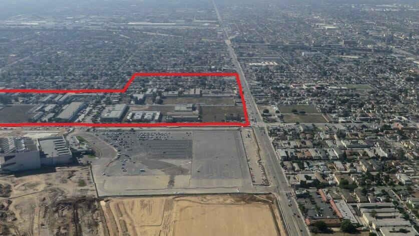 Aerial Outline of Clippers Arena Area