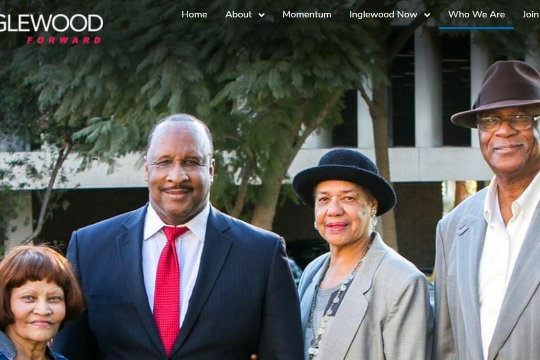 Inglewood Forward Website Featuring Inglewood Mayor James Butts