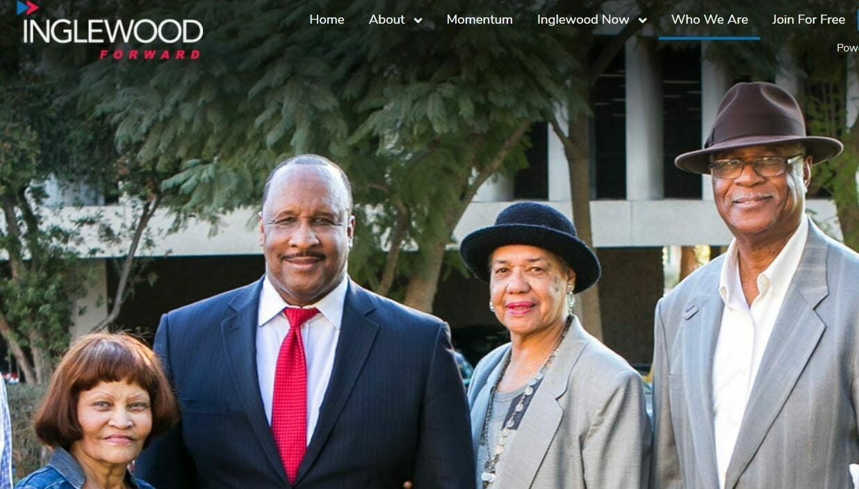 Inglewood Forward Website Featuring Inglewood Mayor James Butts