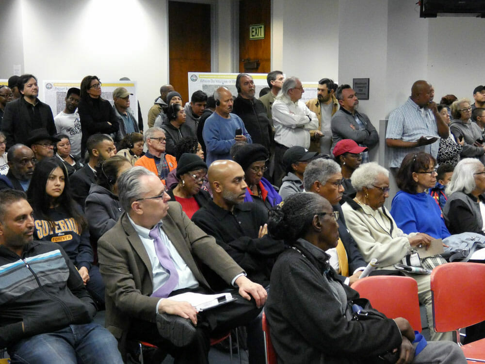 Inglewood Residents Listen During Environmental Review Community Meeting